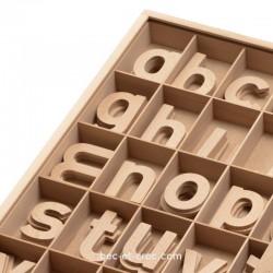Grandes lettres en bois minuscules (H 6 à 8 cm)