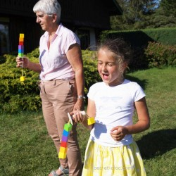 Course de l'Estoc, jeu en bois de parcours et de course de kermesse