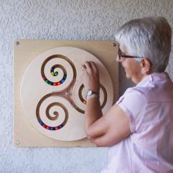 Triskèle jeu mural en bois