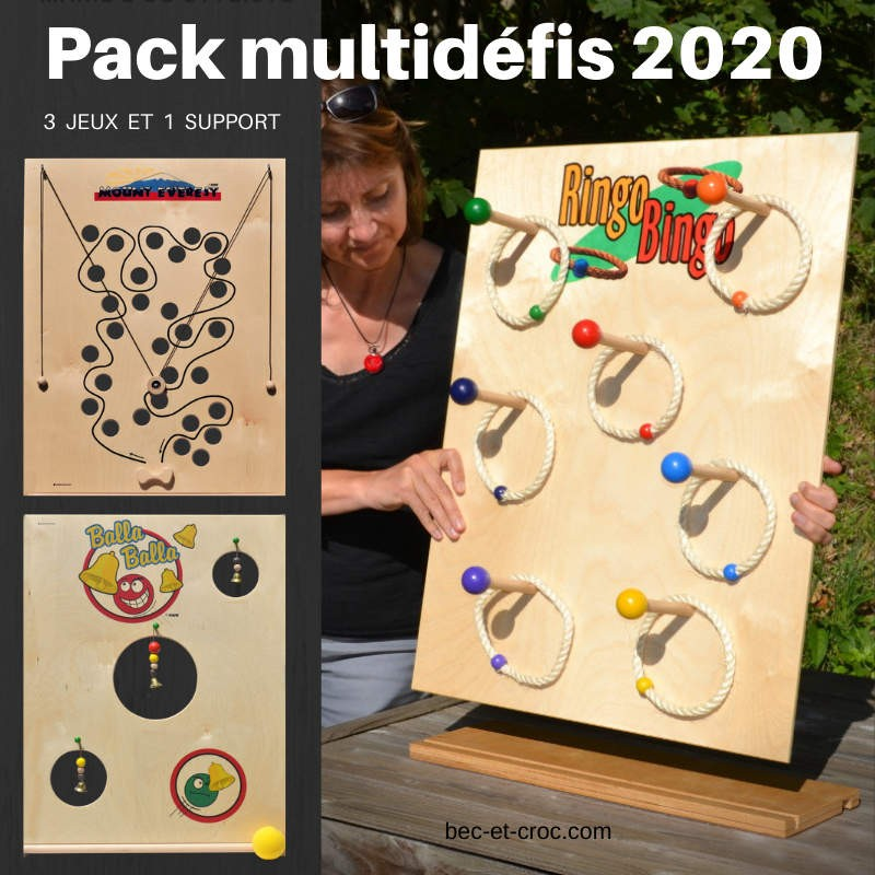 Pack Multidéfis : 3 jeux interchangeables et 1 support