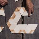 Tridominos géants en bois avec chiffres