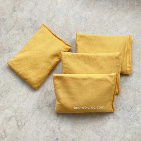 Kit 4 sacs jaunes 9,5 x 14 cm Troussac