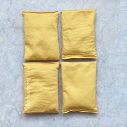 4 sacs tissu jaune Troussac