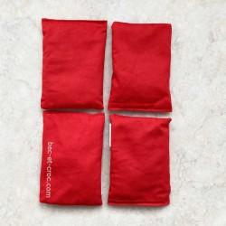 lot de 4 sacs rouges rembourrés pour jeux de lancer Troussac