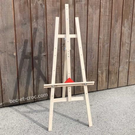Grand chevalet en bois réglable fabrication française