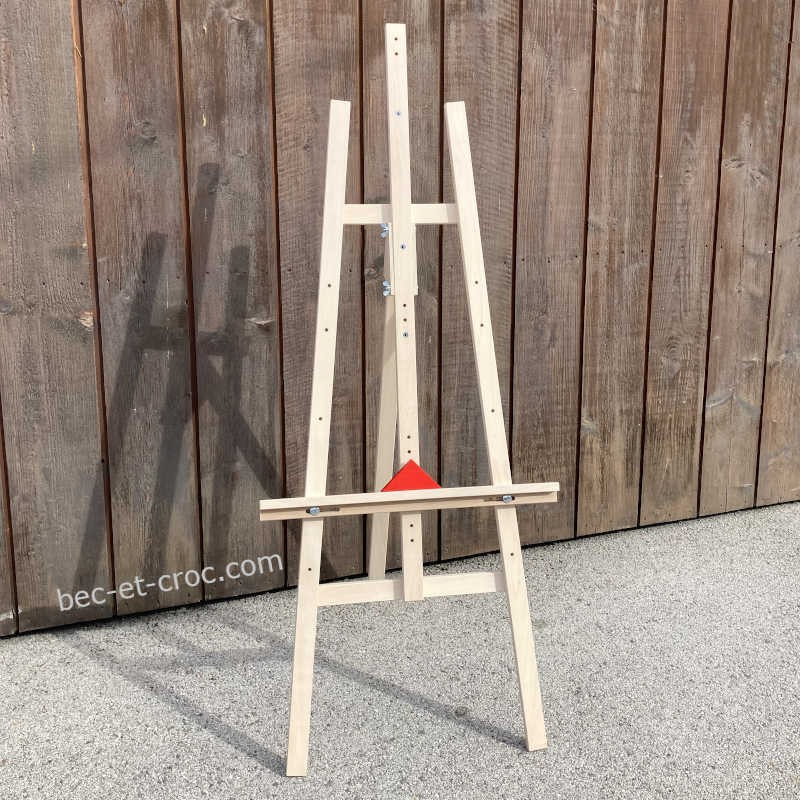 Grand chevalet en bois massif pour jeux ou peinture