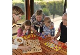 Coffret complet jeu de loto avec cartes en bois