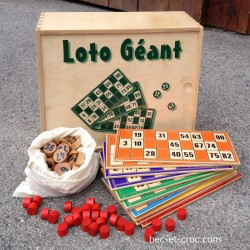 Coffret complet 12 cartes en bois AB jeu de loto