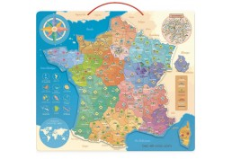 Carte de France en bois aimantée