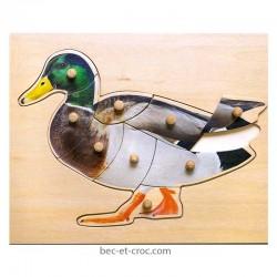 Puzzle canard en bois