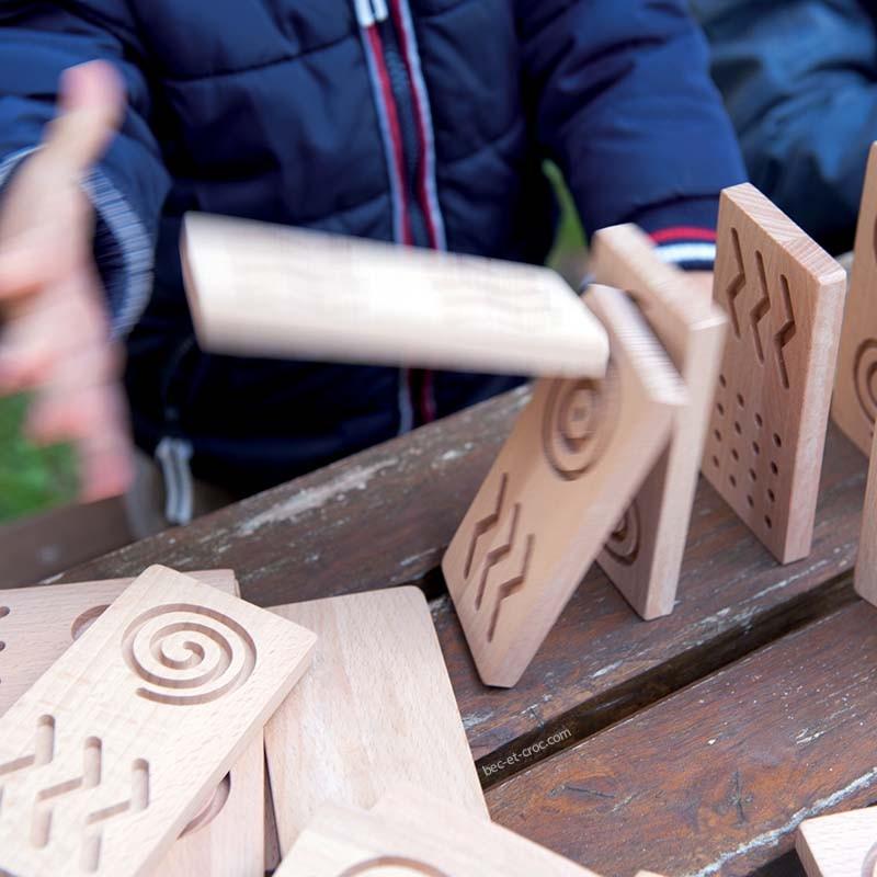 Parcours de dominos géo tactiles