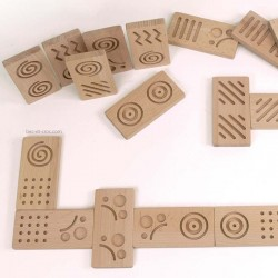 Dominos géo tactiles en bois