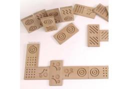 Dominos tactiles avec formes géométriques à partager avec des personnes mal voyantes