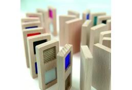 Dominos en bois 8 cm avec textures