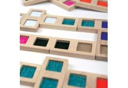 Dominos grande taille avec textures et couleurs