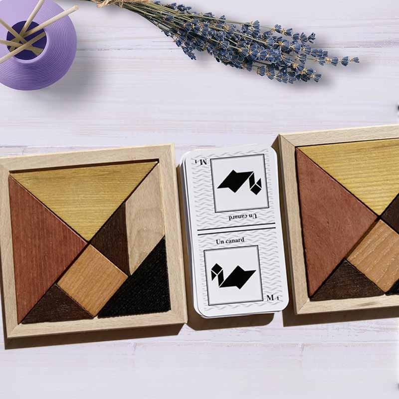 Tangram speed jeu en bois 2 joueurs