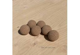 6 balles de Baby-foot en liège brut