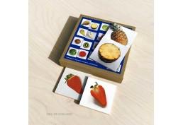 Mémory thème fruits, plaquettes en bois