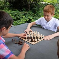 Jeu d'échecs (30 cm) en bois