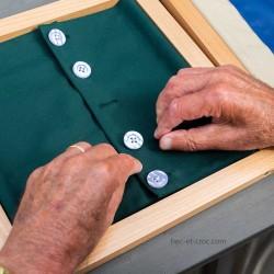 Pack 3 fermetures Montessori boutons