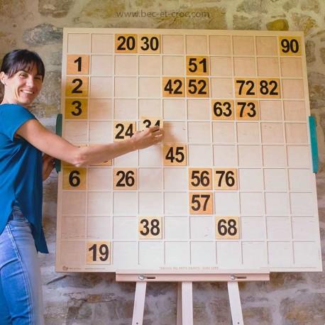 Tableau de suivi de loto XXL avec chiffres