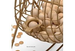 Roue à boules en bois complète