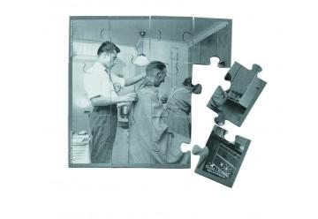 Puzzle coiffeur à la maison noir et blanc