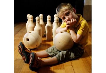 Bowling bois 9 quilles + 2 boules