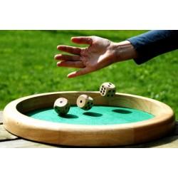 Piste de dés en bois 30 cm de diamètre