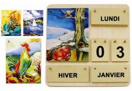 Ephéméride bois image des 4 saisons