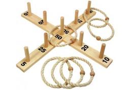 Jeu du lancer d'anneaux en bois