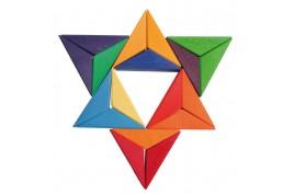 Mosaïque étoile en bois