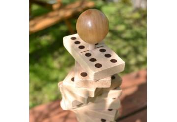 Dominos géants en bois sur tige