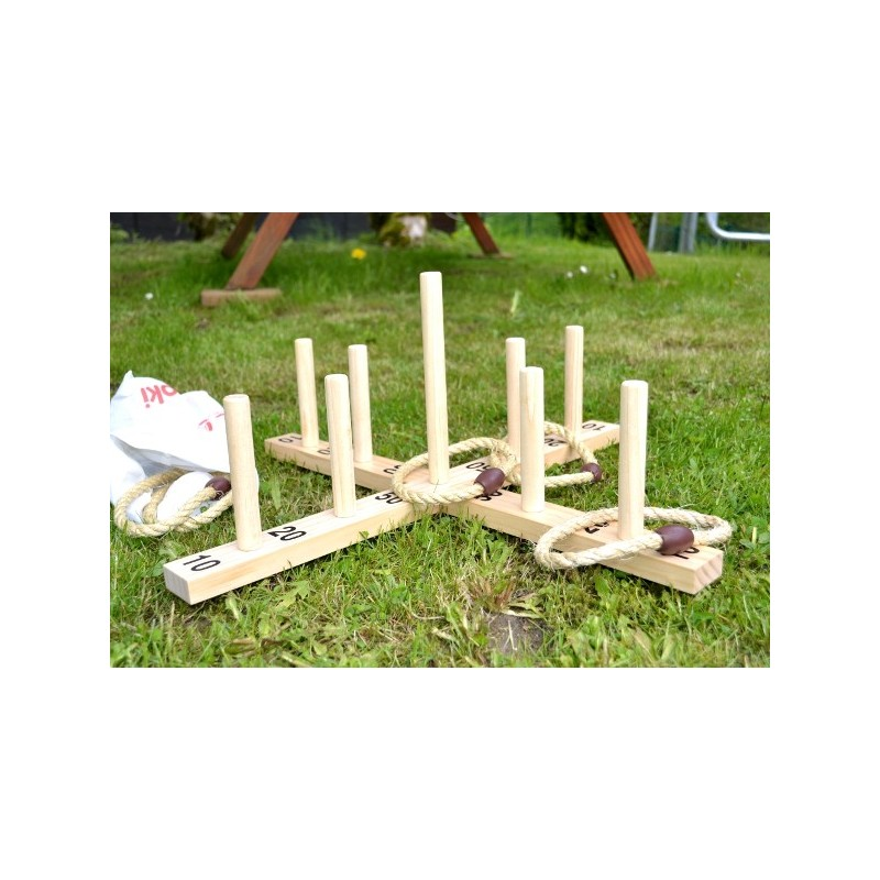 Jeu de lancer d 39 anneaux jeu d 39 adresse en bois for Jeu exterieur bois