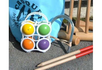 Croquet en bois avec sac