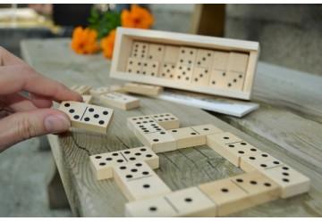 Coffret Dominos jeu en bois