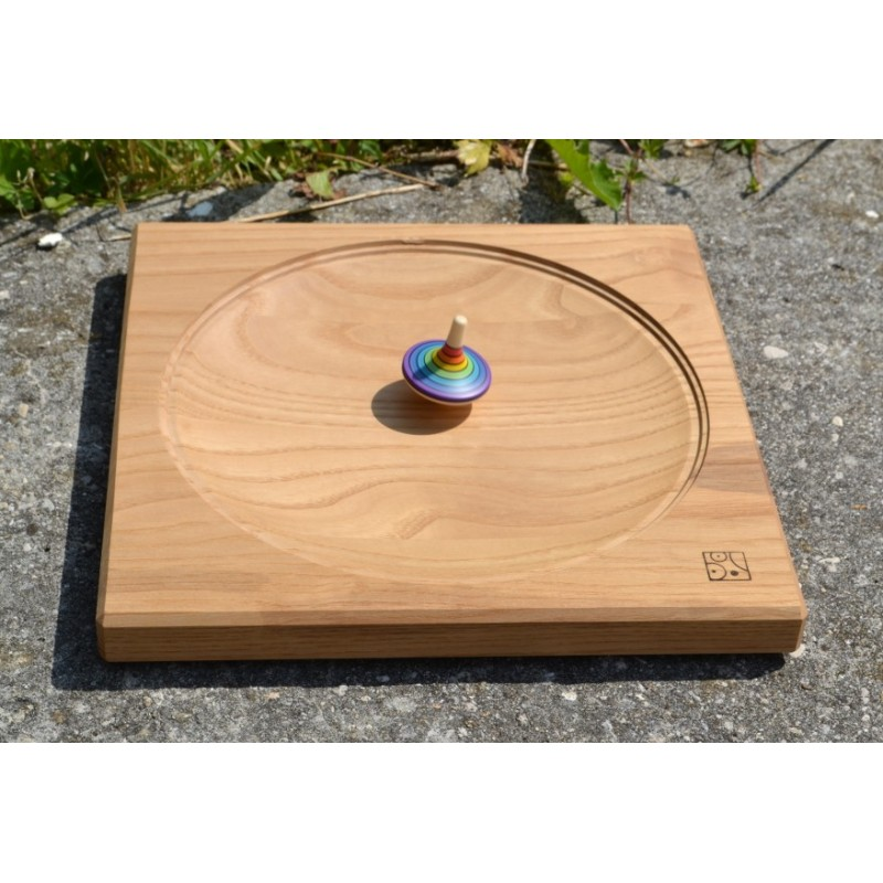 Piste de toupie jeu d 39 adresse en bois - Toupie a bois ...