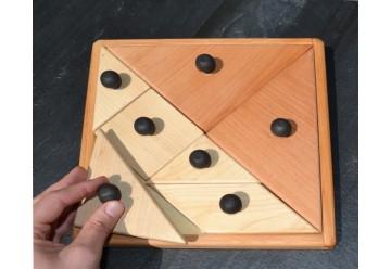 Grand tangram boutons en bois